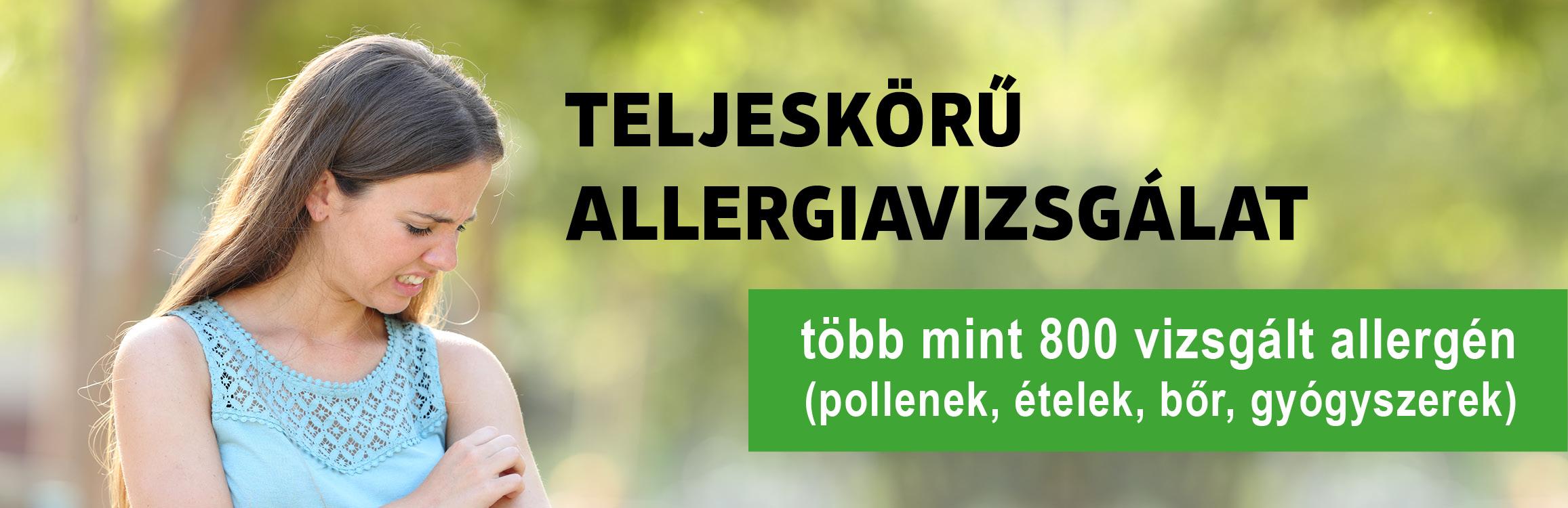 Teljeskörű allergiavizsgálat